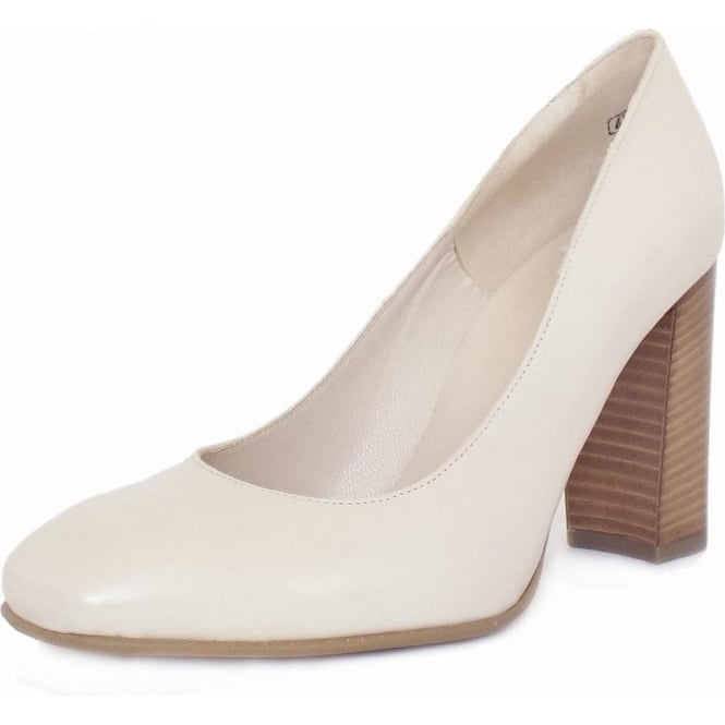 Peter Kaiser Sandy Women's Trendy BLock Heel Court Shoes in Cream