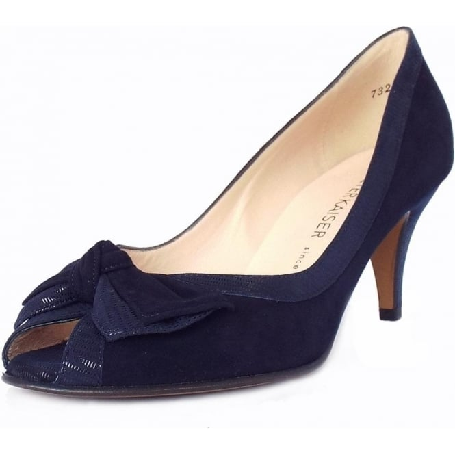 Women's Classy Peep Toe Mid Heel Shoes