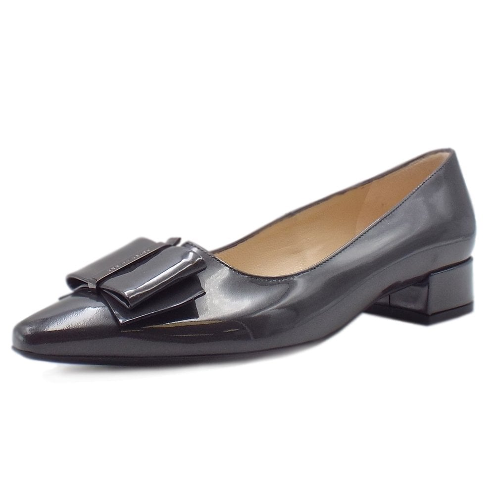 a19f85f7a1e Peter Kaiser Peter Kaiser Sera Pointed Toe Low Heel Courts in Carbon Mura