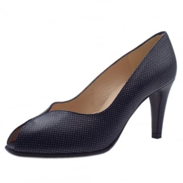 Sevilia Peep Toe Court Shoes in Notte Pin