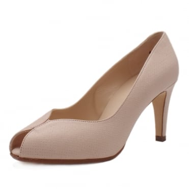 Sevilia Peep Toe Court Shoes in Powder Pin