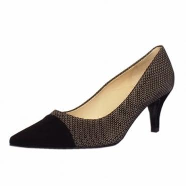 Siren Kitten Heel Pointy Toe Court Shoes in Taupe Moon 992c4f51ba99e
