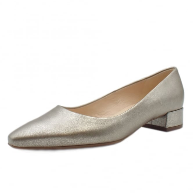 Peter Kaiser Sita Classic Low Heel Court Shoes in Taupe Furla