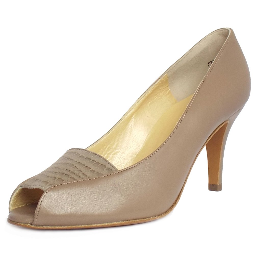 VANELi Astyr - Taupe Print - A stylish, fully lined low-heel dress pump. Buffed leather sole with a rubber insert for added flexibility and a /4