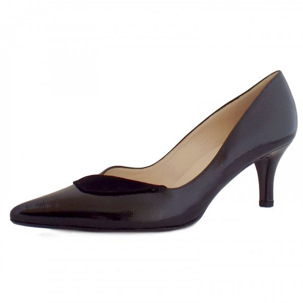 peter kaiser soralia ladies black patent evening shoes mozimo. Black Bedroom Furniture Sets. Home Design Ideas