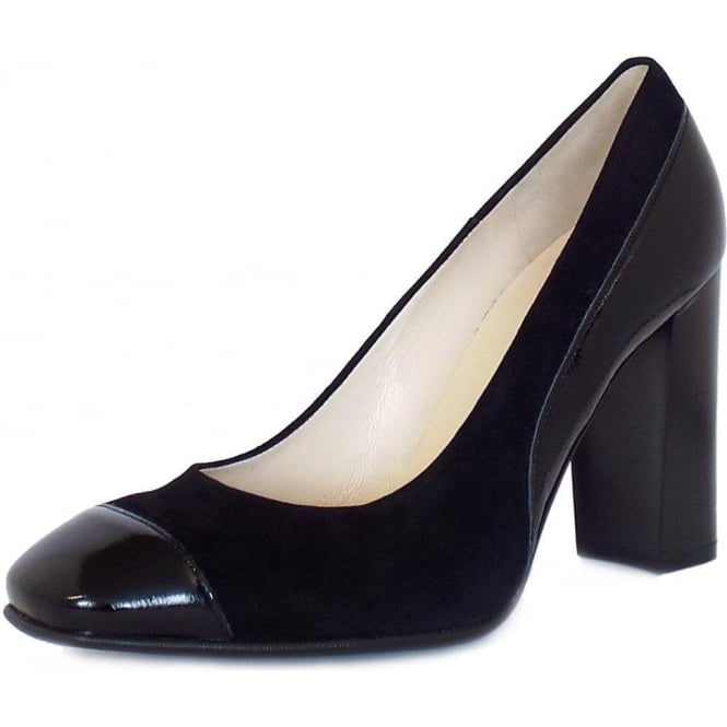 peter kaiser sorana modern high heel court shoes in black