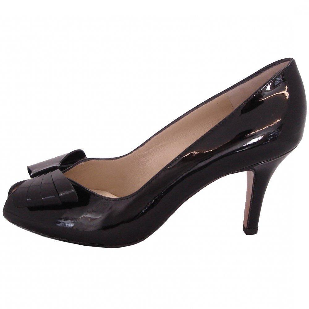kaiser stella peep toe court shoes medium heel