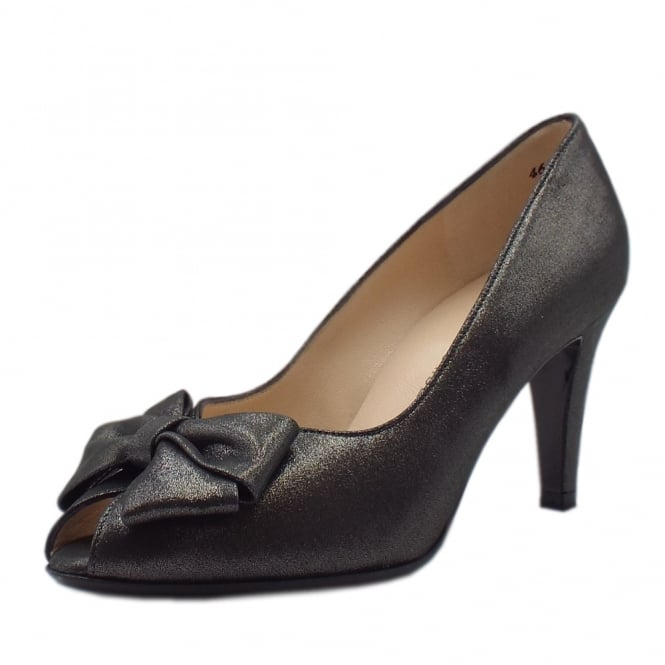 Peter Kaiser Stila Ladies Peep Toe Shoes in Black Star