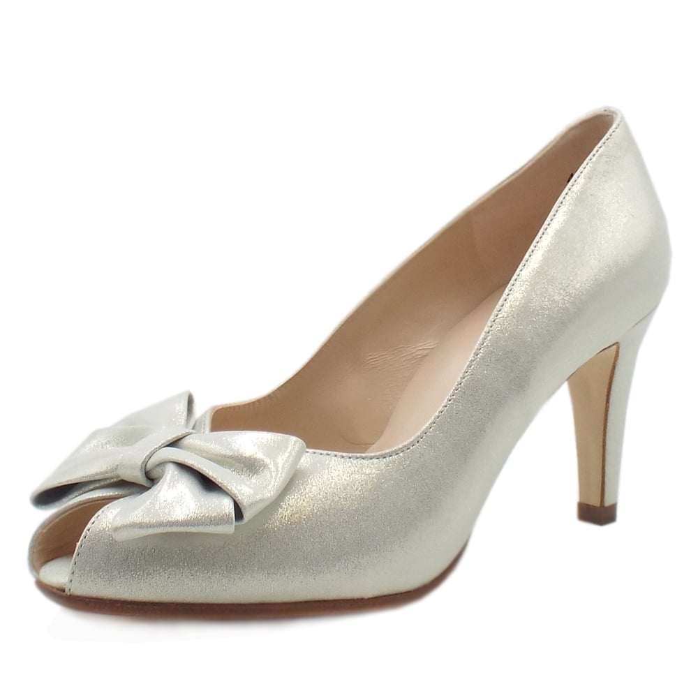 Stila Ladies Peep Toe Shoes in White Star 7af5be050