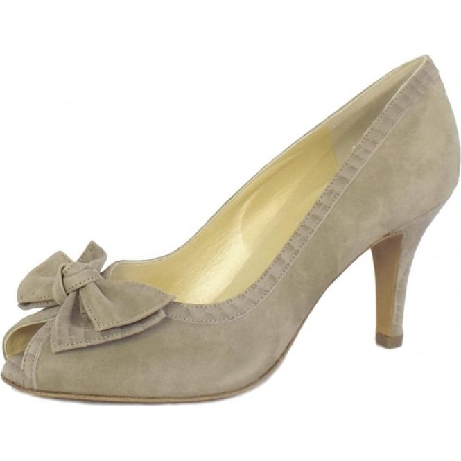 Peter Kaiser Sylve Peep Toe Ladies Shoes in Taupe Musti