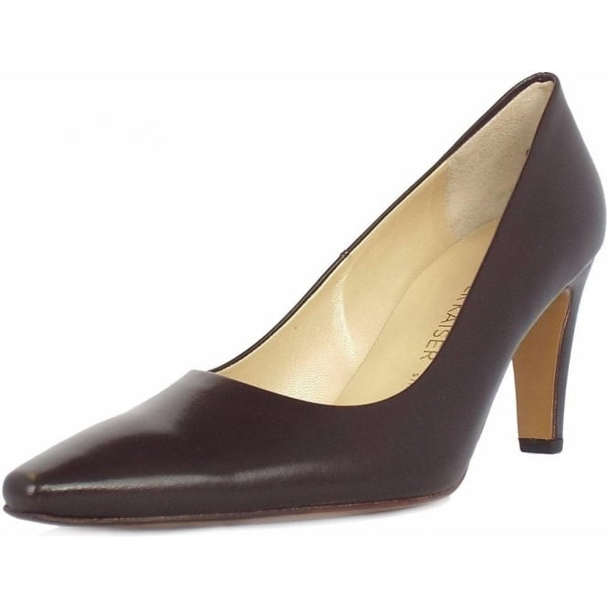 Peter Kaiser Tosca classic pointed toe court shoes in brown