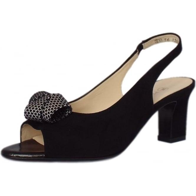 7c35cba72a884 Peter Kaiser Vivett   Women's Dressy Sandals in Black Suede   Mozimo