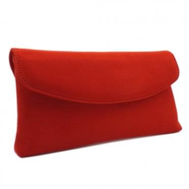 Winema Clutch Bag in Coral Red