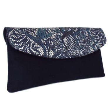 Winema Clutch Bag in Notte Suede
