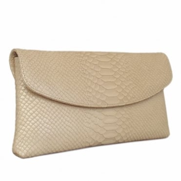 Peter Kaiser Winema Clutch Bag in Sabbia Birman Leather