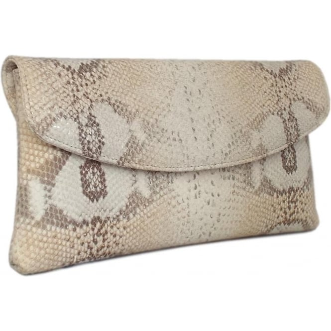 Peter Kaiser Winema Clutch Bag in Sabbia Femo Print Leather