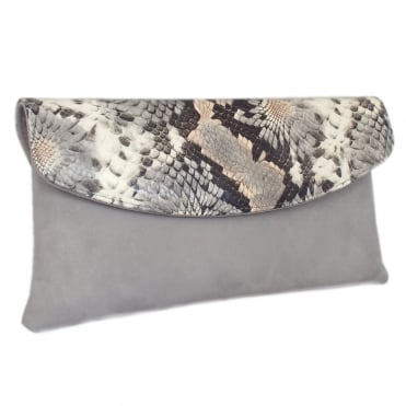 Winema Clutch Bag in Topas Suede