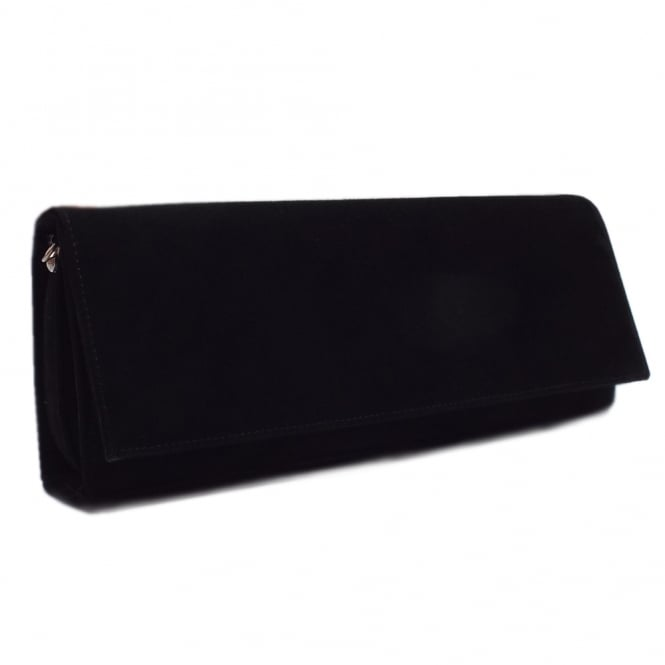 Peter Kaiser Winifred Evening Clutch Bag In Black Suede