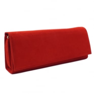 Winifred Evening Clutch Bag In Coral Red