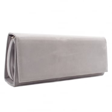 Winifred Evening Clutch Bag In Topas Suede
