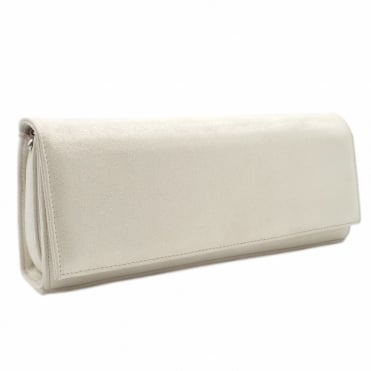 Winifred Evening Clutch Bag In White Star
