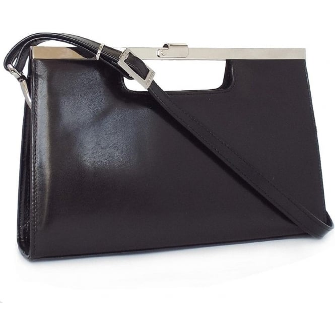 Peter Kaiser Wye Classic Evening Clutch Bag In Black Leather
