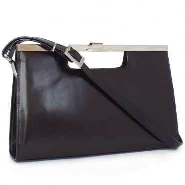 Wye Classic Evening Clutch Bag In Black Leather