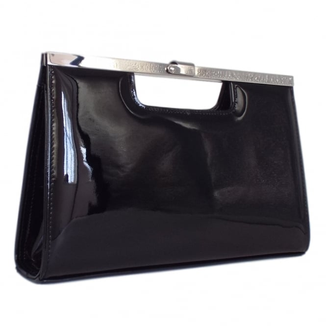 Peter Kaiser Wye Classic Evening Clutch Bag in Black Patent