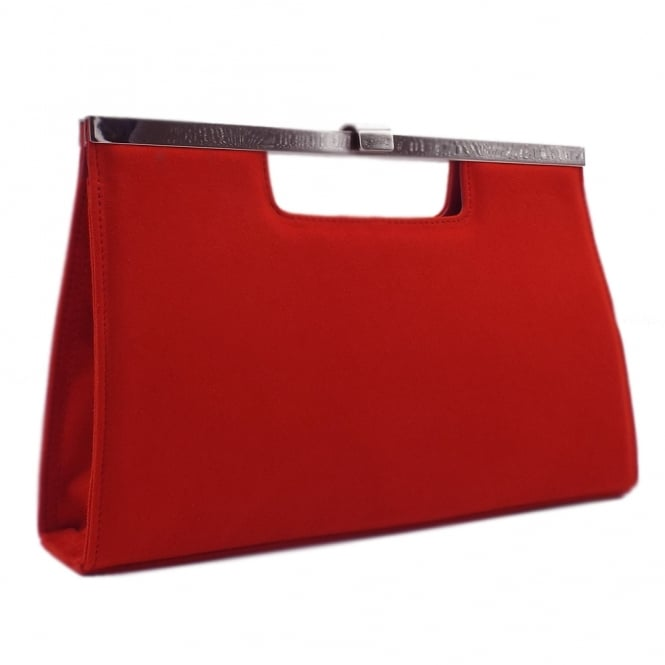 Peter Kaiser Wye Classic Evening Clutch Bag in Coral Red