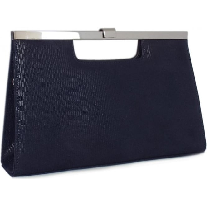 Peter Kaiser Wye Classic Evening Clutch Bag in Navy Lizard