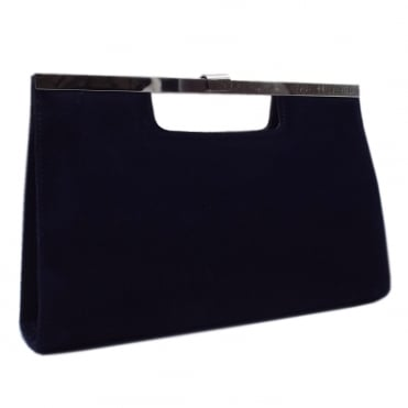 Wye Classic Evening Clutch Bag in Notte Suede