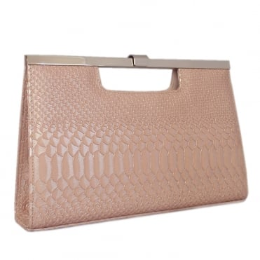 Wye Classic Evening Clutch Bag in Powder Birman