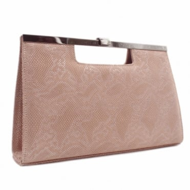 Wye Classic Evening Clutch Bag in Rose Tiles