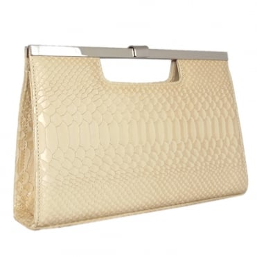 Wye Classic Evening Clutch Bag in Sabbia Birman
