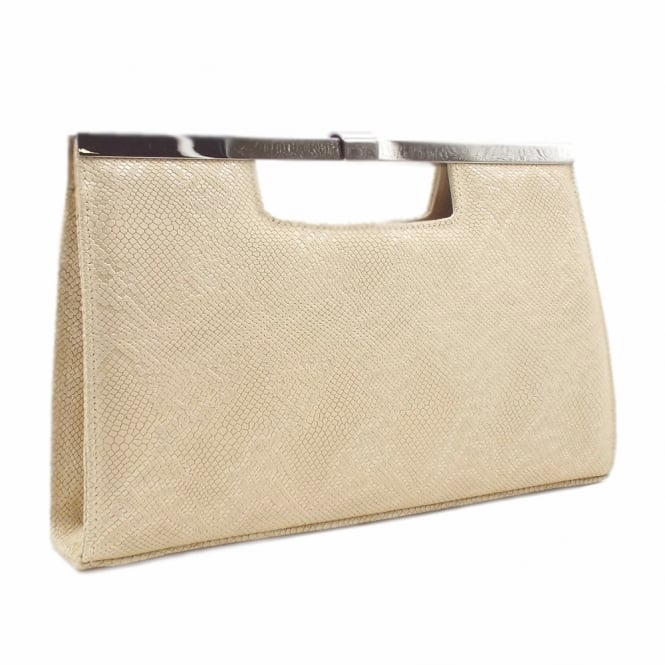 Peter Kaiser Wye Classic Evening Clutch Bag in Sand Tiles