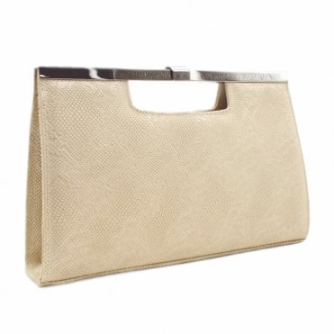 Wye Classic Evening Clutch Bag in Sand Tiles
