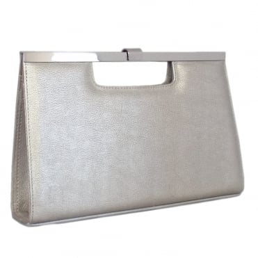 Wye Classic Evening Clutch Bag in Silver Furla