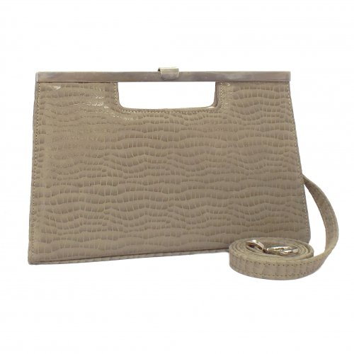 Peter Kaiser UK   Wye   Sand Chevro Nude Leather Bag   Matching Shoes