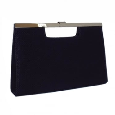 Peter Kaiser Wye Evening Bag In Notte Moon Suede