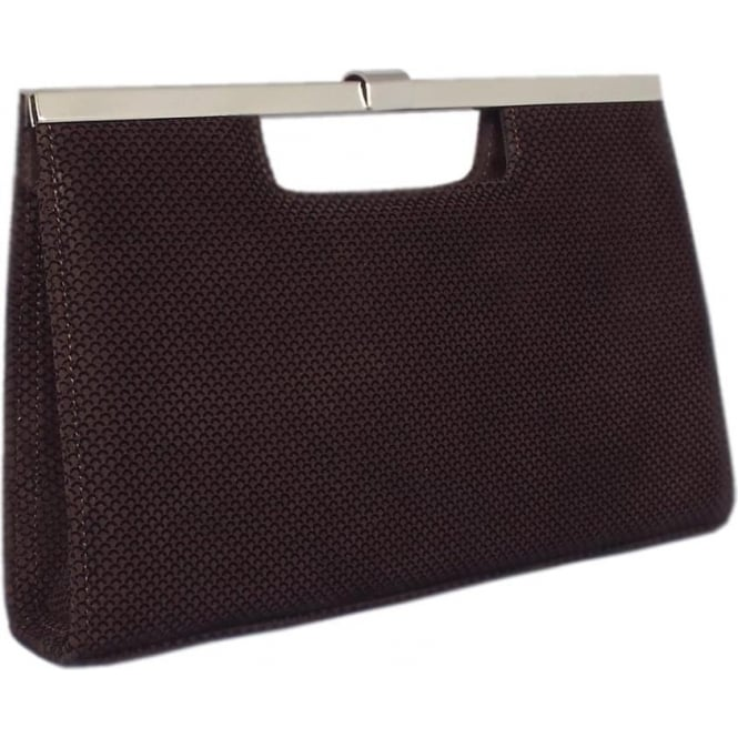 Peter Kaiser Wye Evening Bag In Nuba Moon Suede