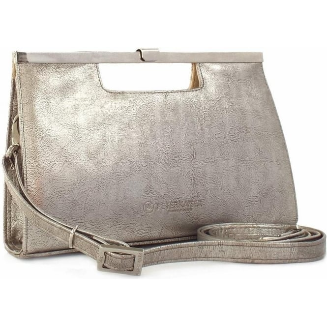 Peter Kaiser Wye Women's Evening Clutch In Metallic Taupe Furla Leather