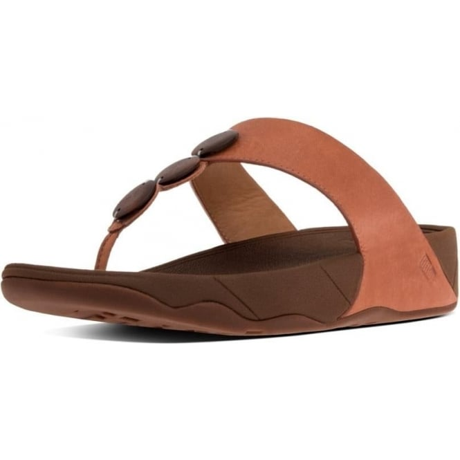 0274f3a2761d5c Petra™ Toe Post Sandal In Dark Tan with decorative stones