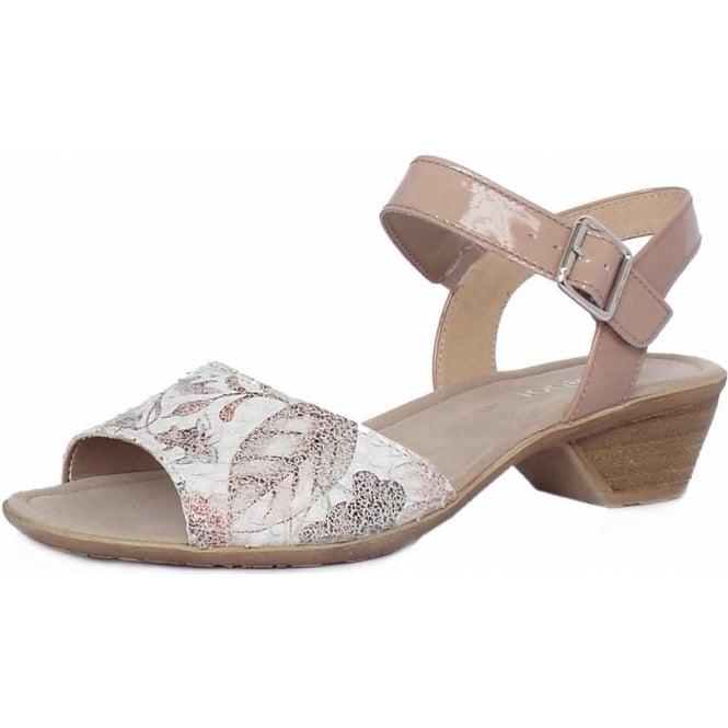32a5bf464da Picasso Women  039 s Modern Low Heel Dress Sandals in White Mosaic
