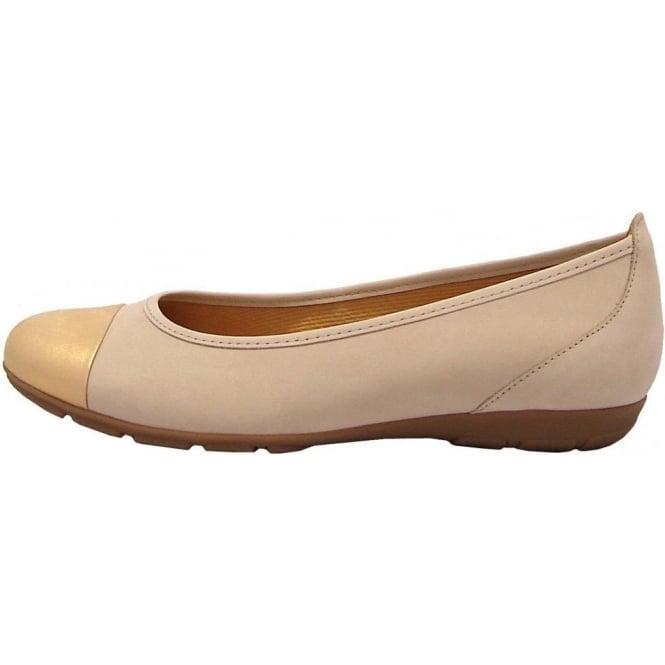 4f152444c267 Gabor Shoes   Pleasure Ladies Pump in Beige   Gold   Mozimo