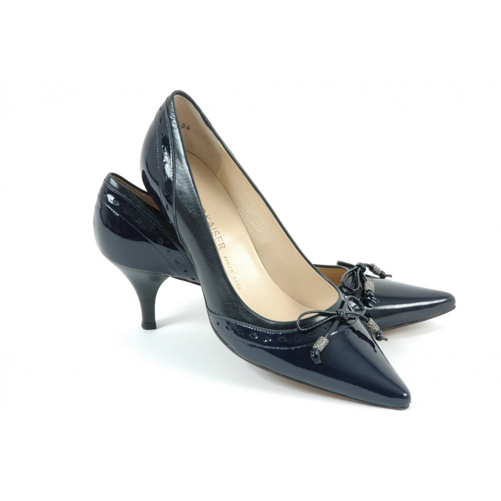 Leather Kitten Heel Shoes - Is Heel
