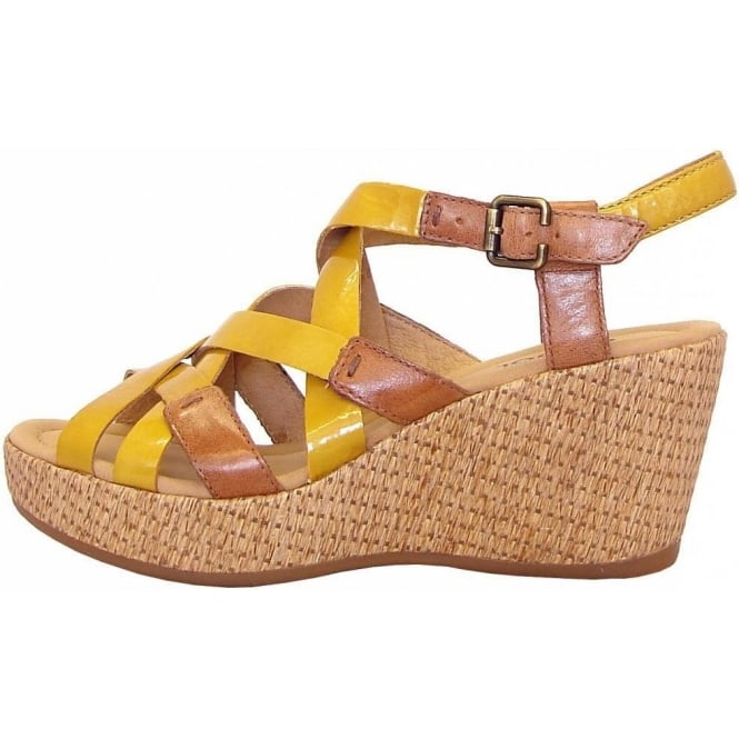 d6e07e827202 Plover Ladies Wedge Sandal In Yellow