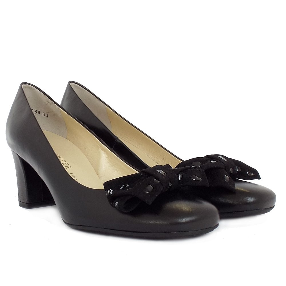 kaiser prismo court shoes in black leather