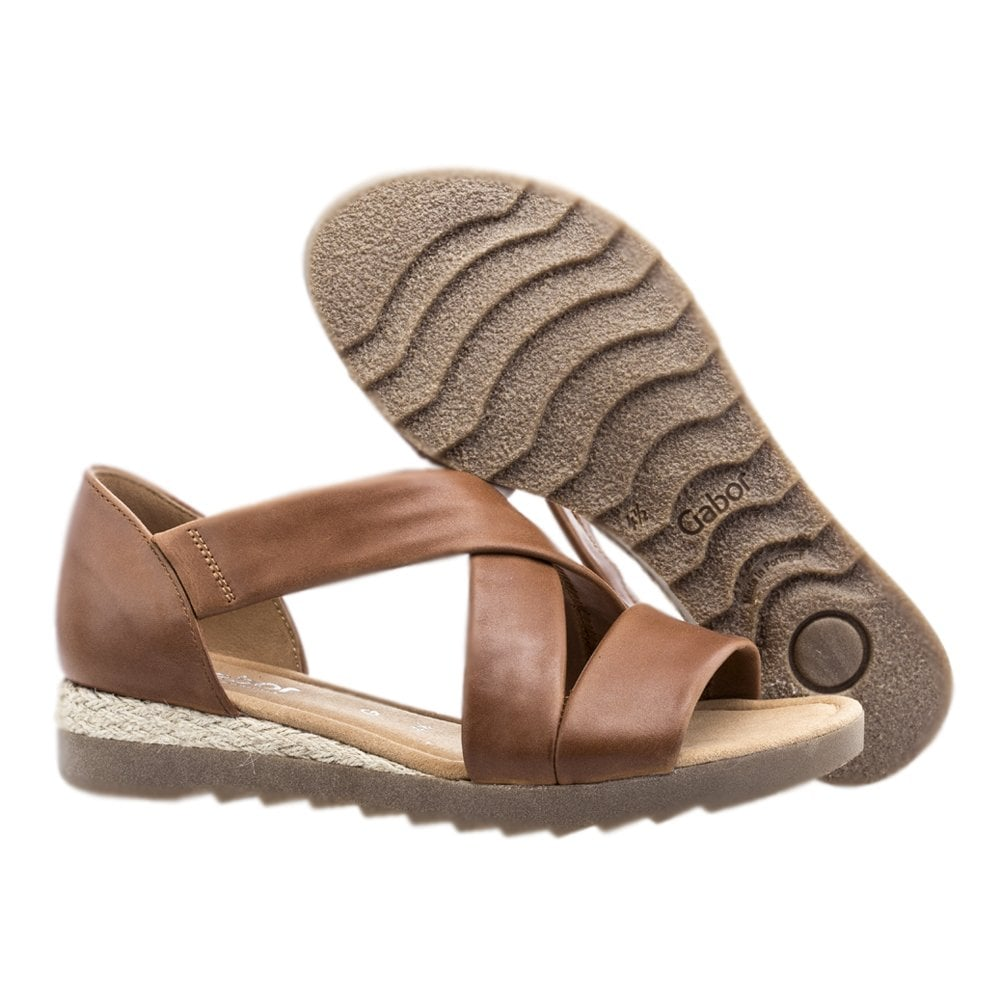 Gabor Promise Comfortable Fashion Sandals in Peanut