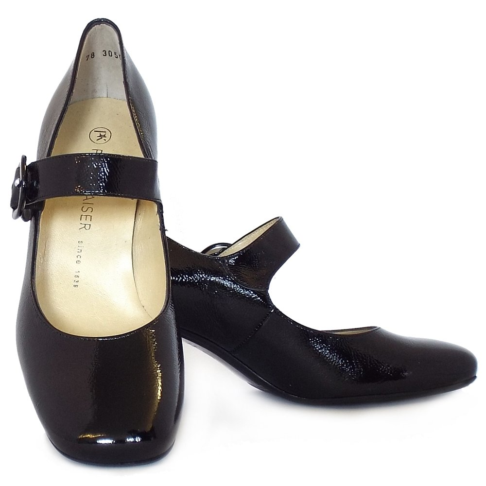 Black Patent Leather Court Shoes