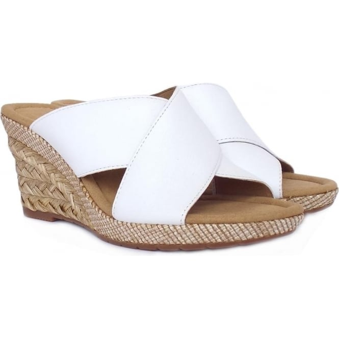 b33f54c87480 Purpose Women  039 s Modern Mule Sandals in White Leather